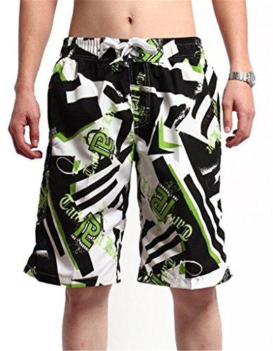 Tailloday Herren Shorts Hawaii Badeshorts und Badehosen Surfshort Grün