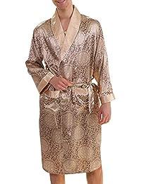 d32d7f6ed6 Pajamas Mens Summer Knee-Length Nightgown Elegant Casual Fashion Simple  Glamorous Comfortable Skinny Bathrobe Long