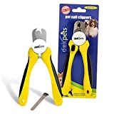 DakPets Professional-Grade Dog Nail Clippers with Protective Guard, Safety Lock and Nail File