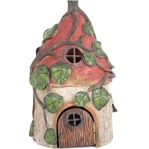 Poupée fée Garden House Red Mushroom Magic Cottage Pixie Faerie Elf Toadstool