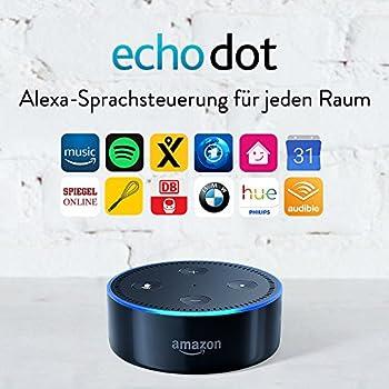 Amazon Echo Dot (2. Generation) Intelligenter Lautsprecher Mit Alexa, Schwarz 2