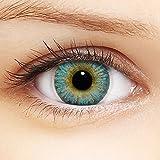 Linsenfinder Farbige Kontaktlinsen Blau '3Tones Sky' + Behälter für HELLE Augen ohne und mit Stärke blaue Kontaktlinsen farbig
