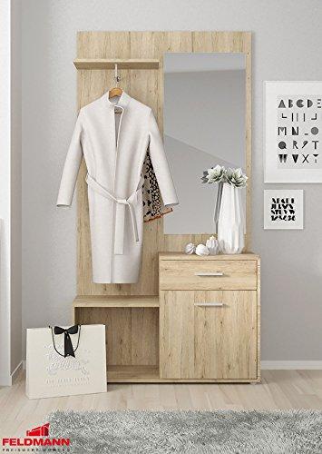 Garderobe Kompaktgarderobe mit Spiegel 16891411 sanremo sand