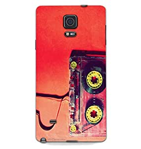 MiiCreations 3D Printed Hard Back Cover/Case for Samsung Galaxy Note 4,Matte Finish,Cassettes