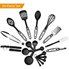 NexGadget Premium 19-Piece Kitchen Utensils Sets Stainless Steel And Nylon Cooking Tools Including Spoons, Turners, Tongs, Whisk, Can Opener, Peeler, Scraper, Measuring Cups and Spoons from Nexgadget