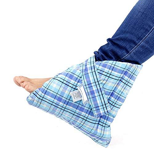 LANGYINH Heels Knöchel Fußschutz,Fersenkissen Schutz Kissen,Fußschutz gegen Druckstellen,Fersenkissen Einsätze,Eine Größe passt meistens,Blau,Baumwolle,1pack -