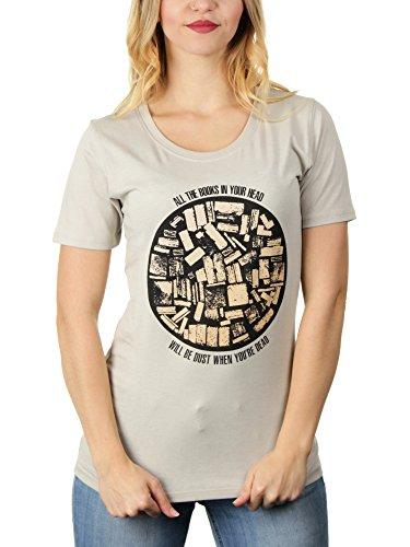 All The Books In Your Head - Damen T-Shirt von Kater Likoli Light Gray