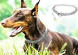 JYHY Hundehalsband, luxuriös, mit P-Kette, Eisen, Metall, Doppelkette, Reihenhals zum Wandern, Training, Kleine mittelgroße und große Hunde