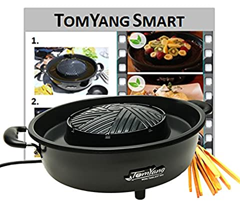 TomYang BBQ - The electric Thai BBQ grill and hot pot. Tabletop grill and fondue with ceramic coating. - Giovane Trota