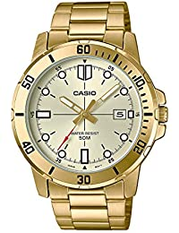 47071361dbfa Casio MTP-VD01G-9EV - Reloj deportivo analógico casual de acero inoxidable  para hombre