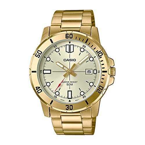 Casio MTP-VD01G-9EV Men's Enticer Gold Tone Stainless Steel Gold Dial