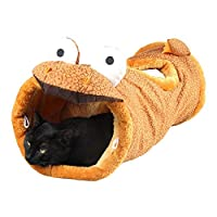 Aszhdfihas Jouet de Formation de Chat Jouet de litière pour Chat Lit Pliant Tunnel de Girafe Tunnel Pet Supplies. Baguette rétractable Chat