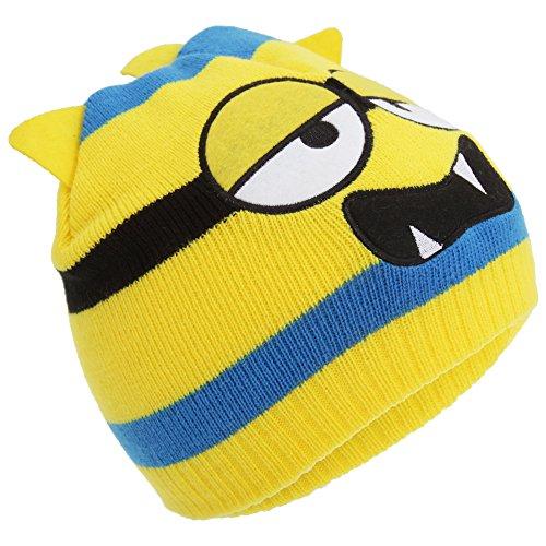 Bonnet tricoté style monstre - Enfant Jaune
