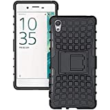 SnS Rugged, Armor, Defender, Hybrid Back Case Cover with Kickstand for Vivo Y55