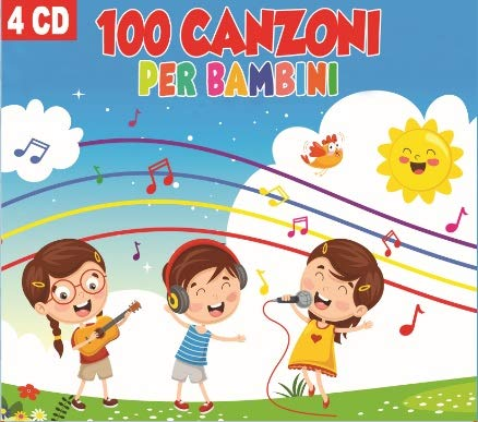 4 cd 4 CD 100 Canzoni Per Bambini, Canzoni Indimenticabili , Baby dance, Lullabies, Kinder Musik (Musik Baby Lullaby)