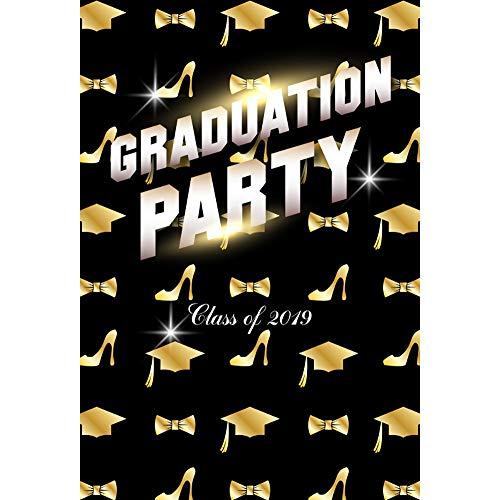 OERJU 2x3m Abschluss Hintergrund Abschlussfeier Klasse von 2019 Bachelor Cap Krawatte High Heels Hintergrund Studentenabschluss Abschlussball Banner Fotografie Produkt Requisiten -