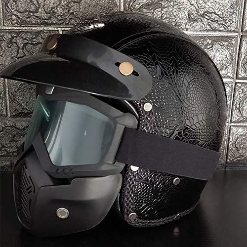 Casco Moto Cross Enduro Trial Quad Off Road Visiera Anti Nebbia Nero Grafica