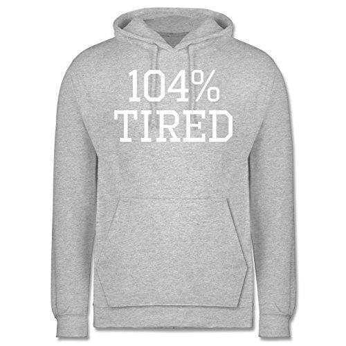 Statement Shirts - 104% tired - Männer Premium Kapuzenpullover / Hoodie Grau Meliert