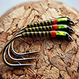Olive Quill Hot Collar Buzzers Size 12 (Set of 3) Fly Fishing Straight Hook