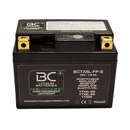 BC Lithium Batteries BCTX5L-FP-S Batteria Moto al Litio LiFePO4, Nero, 1