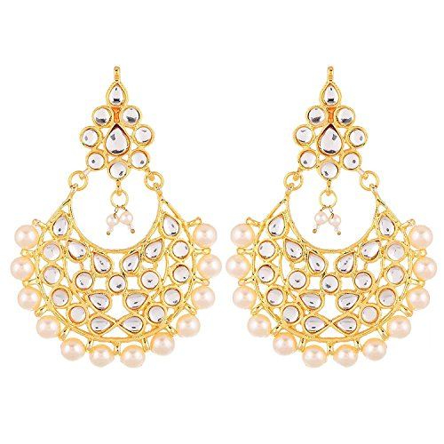 YouBella Jewellery Traditional Stylish Gold Plated Pearl Fancy Party Wear Jhumka / Jhumki Earrings for Girls and Women  available at amazon for Rs.199