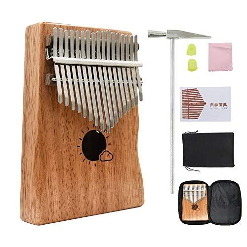 EAHUHO 17 Key Kalimba Daumenklavier, tragbare Finger Klavier/Mbira/Sanza Musikinstrument Geschenk für Kinder und Erwachsene