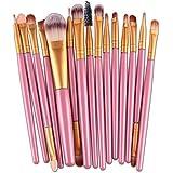 Womail 15 Pcs/Sets Eye Shadow Foundation Eyebrow Lip Brush Makeup Brushes Tool PK
