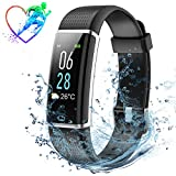 IP68 Waterproof Fitness Tracker, Colour Screen Heart Rate Monitor 14 Exercise Modes 5