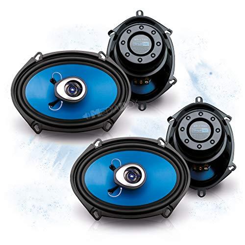 SINUSTEC Front/Heck 5x7/15x20cm Auto Lautsprecher/Boxen/Speaker Komplett-Set kompatibel für Ford