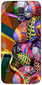 Timpax protective Armor Hard Bumper Back Case Cover. Multicolor printed on 3 Dimensional case with latest & finest graphic design art. Compatible with Samsung Galaxy S-5 / S5 Design No : TDZ-23692
