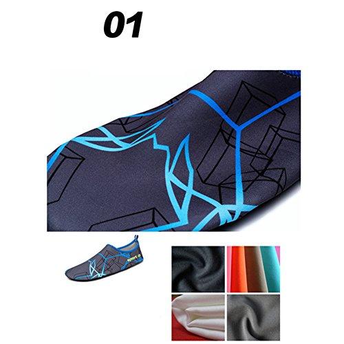 hibote Herren Barfuß Wasserschuhe Surfschuhe Damen Strandschuhe Schwimmschuhe Unisex Schnell trocknend Socks LUYM-2