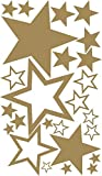 XXL-1A-Luxus Set Schaufenster 25 Stück Sterne Aufkleber GOLD, ø 45-7 cm, 70003, Fensterdekoration zu Weihnachten Fensterbild / Fensteraufkleber, Wandtattoo Deko Sticker, Autoaufkleber, Weihnachtsdekoration, Schaufenster In- und Outdoor Sternchen, Geschäft, Ladendeko