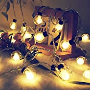 KharidoLive 10 LED Double Ball String Lights for Home Decoration | Festival Decoration Lights (Warm White)