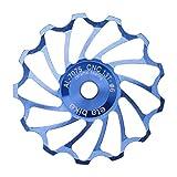 ?HuntGold 13T CNC-Keramik Fahrrad Hinten Schaltwerk Stützrad Roller Umlenkrolle Blau