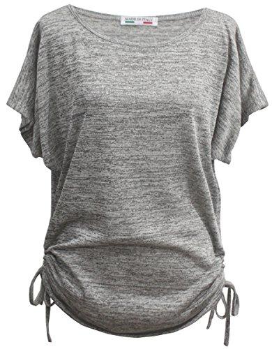 Emma & Giovanni T-Shirt/Oberteile Kurzarm - Damen (M/L, Grau)