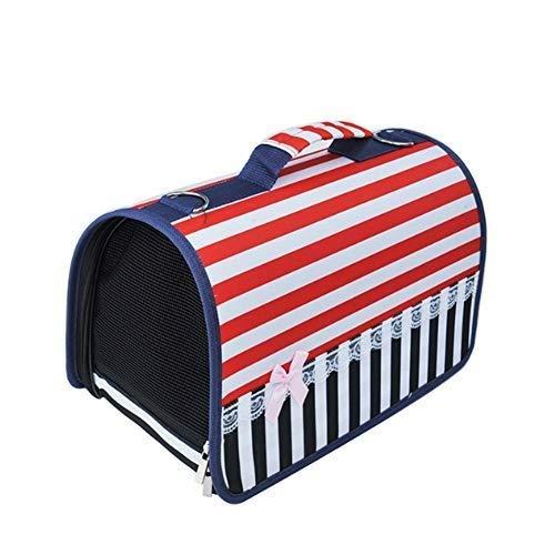 Heimtierbedarf, Heimtierbedarf Haustierrucksack Ausflugstasche Gestreifte Katzentasche Hundetasche One Shoulder Messenger Bag Handtasche - One Messenger