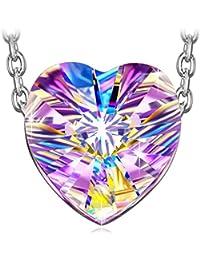 """J NINA """"Aurora"""" 925 Plata Esterlina Corazón Collar de Mujer con de Realizado fabricados con cristales SWAROVSKI®"""