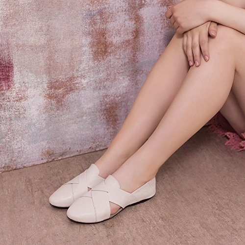 Chaussures Pliantes Cocorose - Hackney Ballerines Femme Blanc Cuir