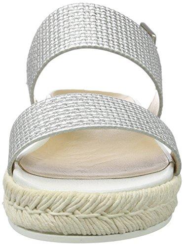 Senhoras Aberto De 8605 Sandália argento Prata Peperosa w7P74
