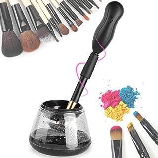 MVPOWER Make Up Pinsel Reiniger Set 360 Drehbar Make Up Brush Cleaner and Dryer mit 8 Gummiringe MakeUp Kosmetikpinsel Reinigungsgerät (Schwarz)