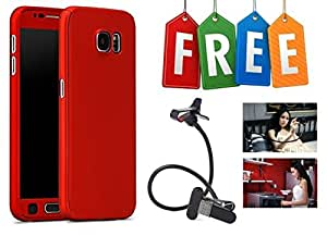 360 Degree Hybrid Front Back Cover Case For Samsung Galaxy C9 Pro With Free Mobile Stand