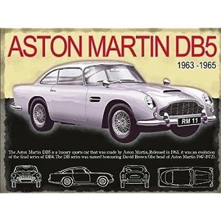 Aston Martin DB5 Large Metal Sign
