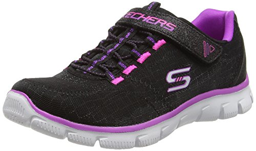 Skechers Empire-Rock Around, Baskets Basses Fille Noir (Black/Purple)