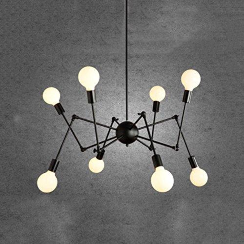 onleuchter, American Village Retro Industrie Wind Einfache Deckenleuchte, Wohnzimmer Restaurant Schlafzimmer Beleuchtung Dekorative Hängelampe, 8 Kopf Spinne Aktivität Kronleuchter (Wie Machen Sie Eine Halloween-kuchen)