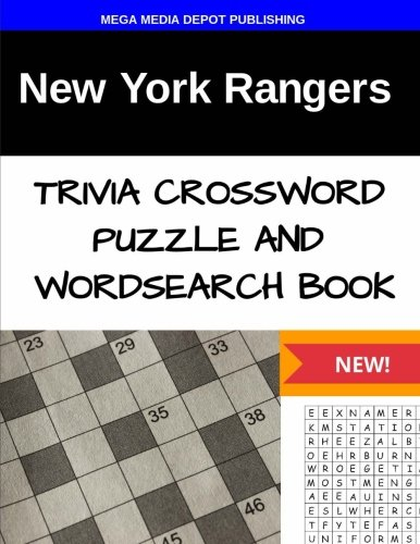 New York Rangers Trivia Crossword Puzzle and Word Search Book por Mega Media Depot