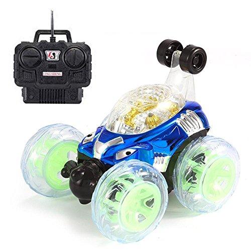 RC Rolling Stunt Auto, Tornado Twister Fernbedienung Radio Control Spin Truck mit 360-Grad-akrobatisch, Farbe Flash & Music-Schalter für Kinder Jungen Kinder Weihnachten Festival Geschenke