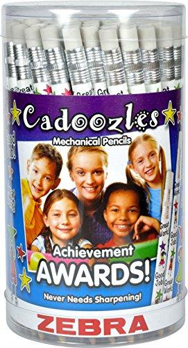 Zebra Pen Cadoozle Awards Mechanical Pencils, 0.9 mm, 2 Designs, 72 Pencils (56607) by Zebra Pen