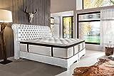 Schlichter Möbel Boxspringbett Baron Deluxe (Weiß, 200 x 200 cm)