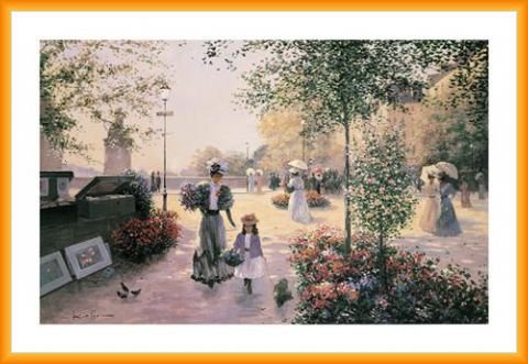 ster Kunstdruck und Kunststoff-Rahmen - An Early Morning (91 x 61cm) (Christian Gerahmte Bilder)