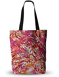 KESS InHouse Everything Tote Bag 18X18 Danny Ivan You Red Pink